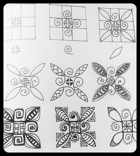 Zentangle patterns step by step Zentangle Patterns ART DOODLING Cool Zentangle Patterns Step By Step