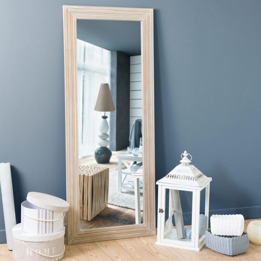 Miroir En Bois De Paulownia H 145 Cm Salon Traditionnel Peinture Interieur Maison Deco Maison
