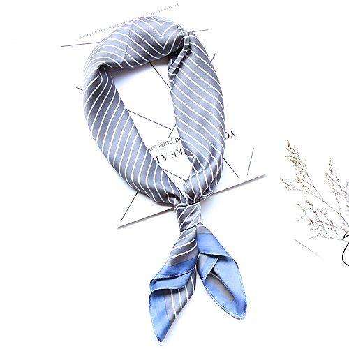 77219d0eab5fc Baumor Square Silk Scarf Women s Fashion Silk Headscarf Neckerchief Neck Tie