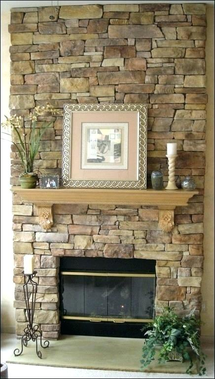 Peel And Stick Tile Fireplace Stacked Stone Fireplaces Faux Stone Fireplaces Stone Fireplace Surround