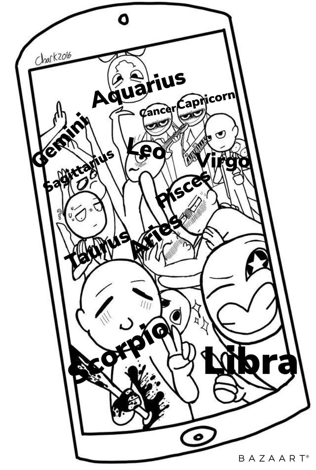 Pin By Sorian Aif On Zodiac Dessin Zodiac Signs Funny Zodiac Signs Gemini Zodiac Signs Aquarius
