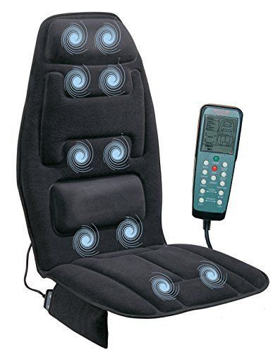 Massage Seat Cushion Heated Upper Lower Back Neck Chair Car Office