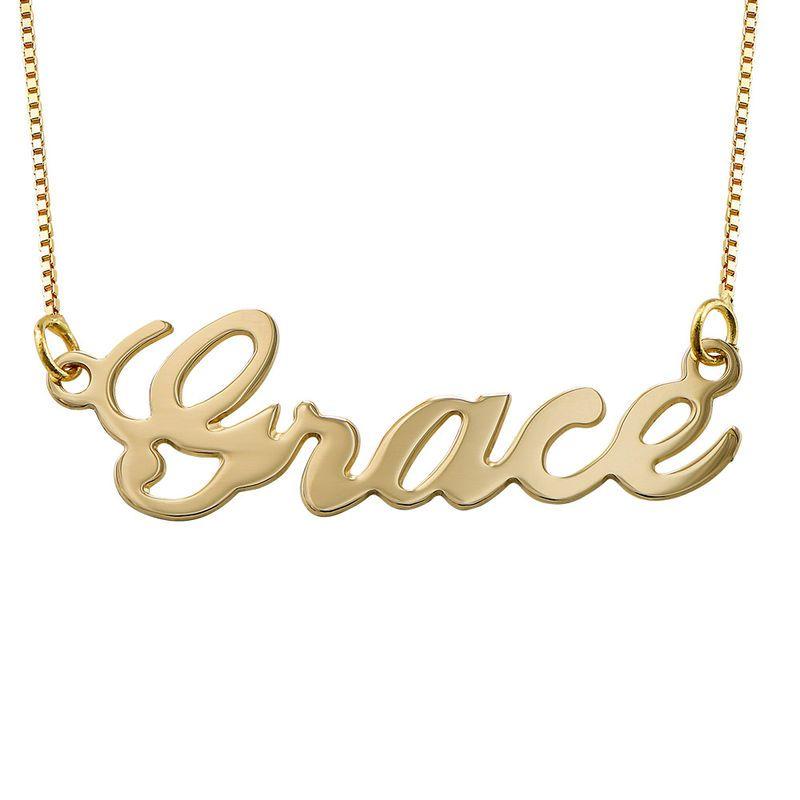 10k Gold Classic Name Necklace Dainty Diamond Necklace Diamond Cross Necklaces Name Necklace
