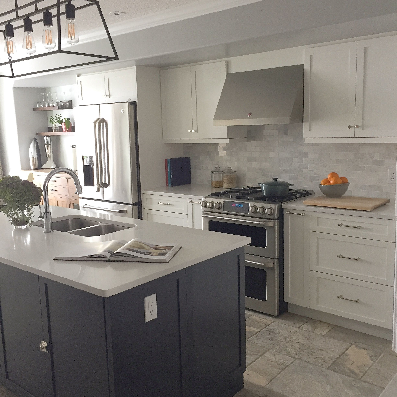 White And Navy Tuxedo Kitchenjessica Devlin Design Blog  Dream Stunning Kitchen Design Blog Design Ideas