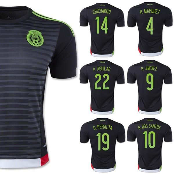 5c2cf22f7 Wholesale Best Mexico Jersey 2015 Home Black 14 Chicharito G. Dos Santos 15 16  Soccer Jerseys Mexico Kits O.Peralta Thailand Fans Version From ...