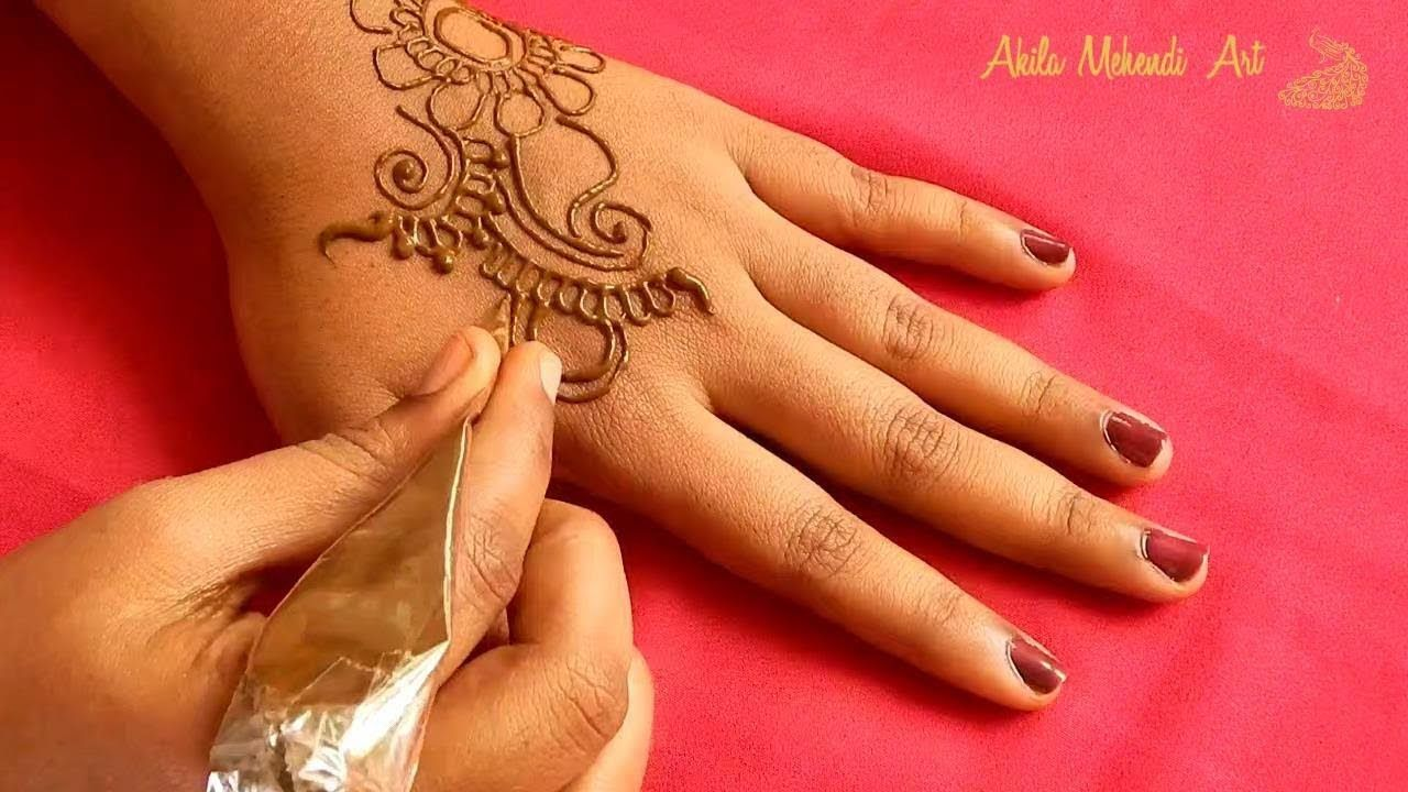 Simple and easy arabic henna mehndi design for back hands also best images rh pinterest