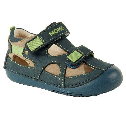 4e34a29f52513 Momo Baby Boys Leather Sandals - Thomas Taupe Navy (First Walker   Toddler)