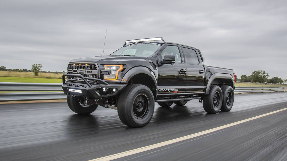 The 2018 Hennessey Velociraptor At Sema Bring It On Amg Ford