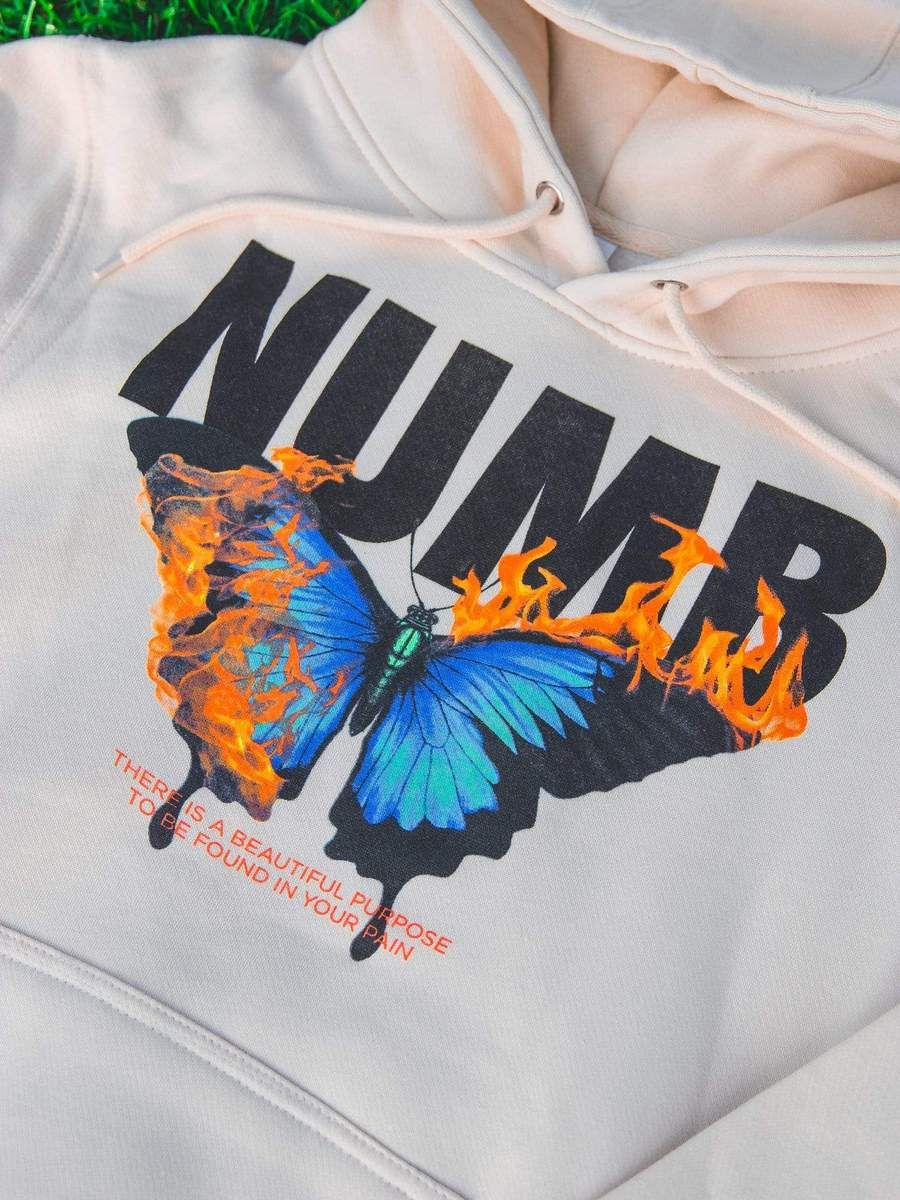 Embroidered Women/'s Shirt XS-4X Sizes Available Butterfly Sweater