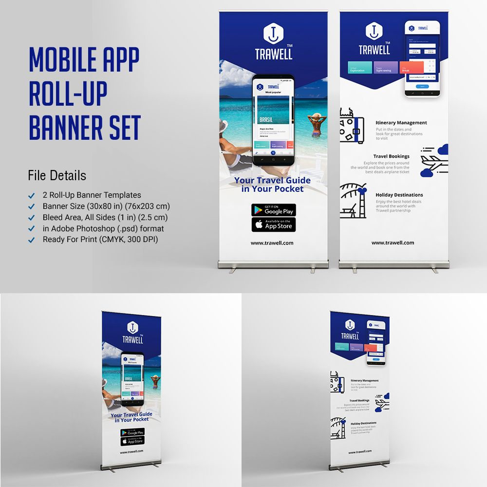 Mobile App Roll Up Banner Set | Mobile app, Banners and App