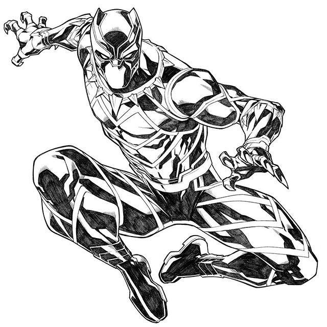 Black Panther By Carlos Gomez Blackpanther Avengers Marvel Comicbook Black Panther Art Black Panther Drawing Black Panther Marvel