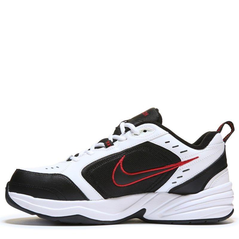 173e946593 Nike Men s Air Monarch IV X-Wide Training Shoes (White Black Red ...