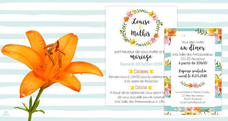 Papeterie Mariage Fleur De Lys Faire Part Mariage A L Esprit