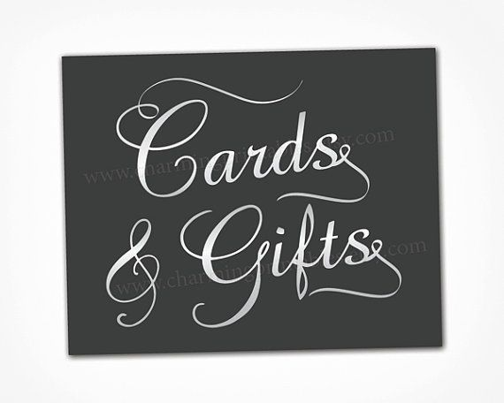 Printable Card Gift Table Sign Instant Download Pdf File