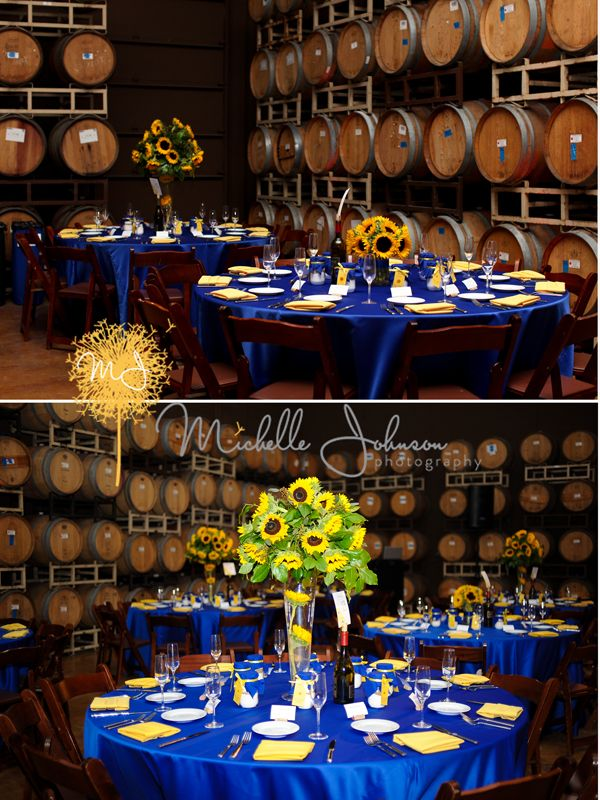 Marine Navy Blue And Sunflower Yellow Rustic Country Wedding Ideas