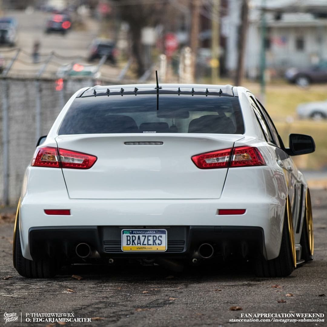 Mitsubishi Lancer Evolution X: #Mitsubishi_Evo_X #Modified #Slammed #Stance #Camber