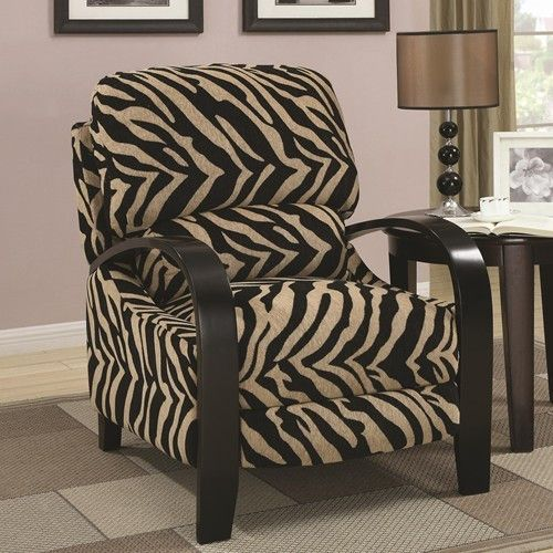 Recliners Animal Print Upholstered Push Back Recliner