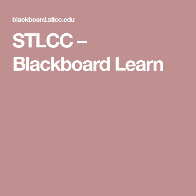 stlcc blackboard.com