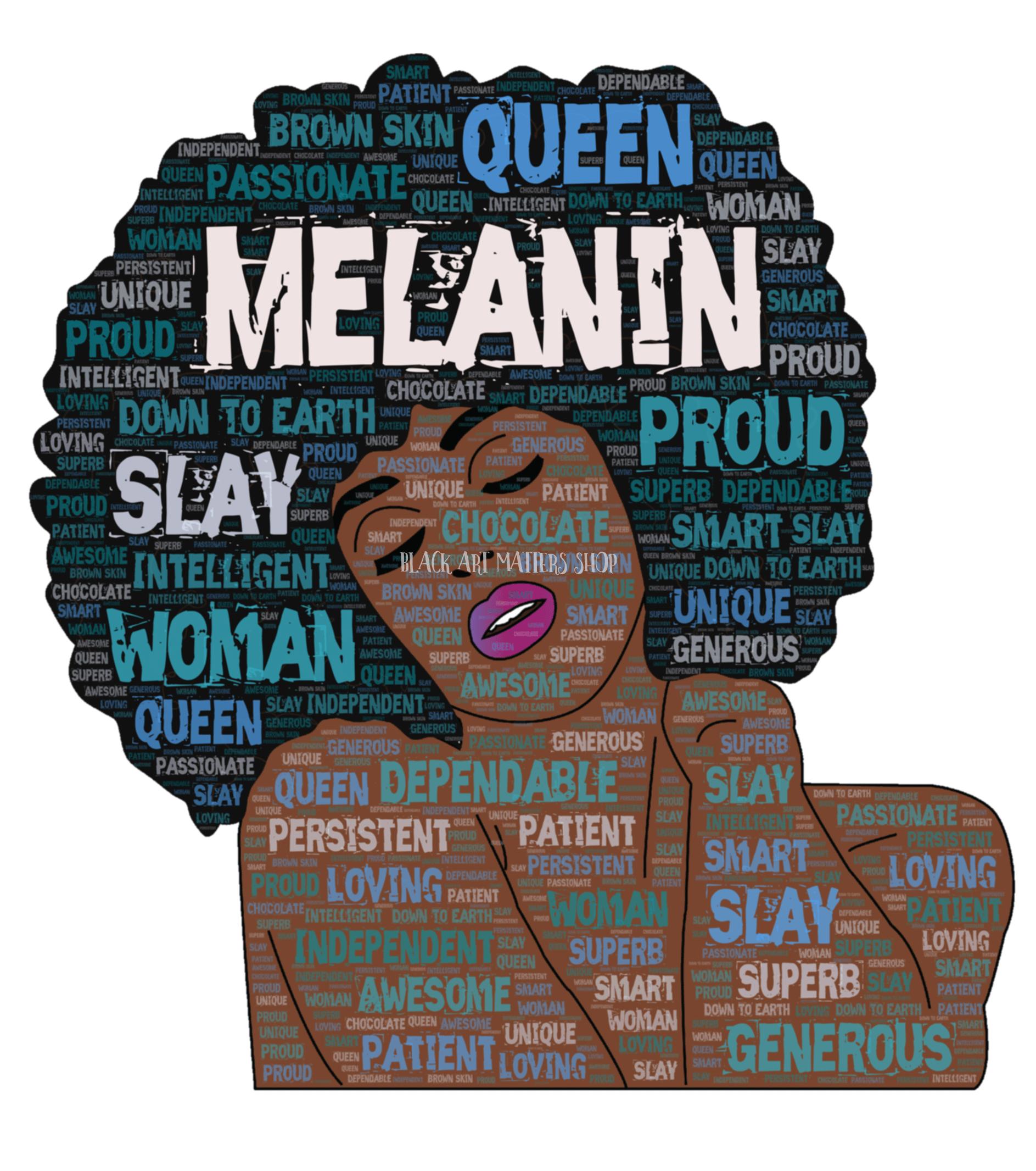 Melanin Black Queen Afro Girl How To Draw Hair Melanin