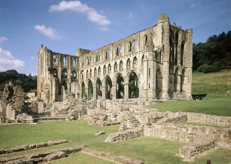 Rievaulx Abbey, North Yorkshire. Set in the North York Moors National Park is…