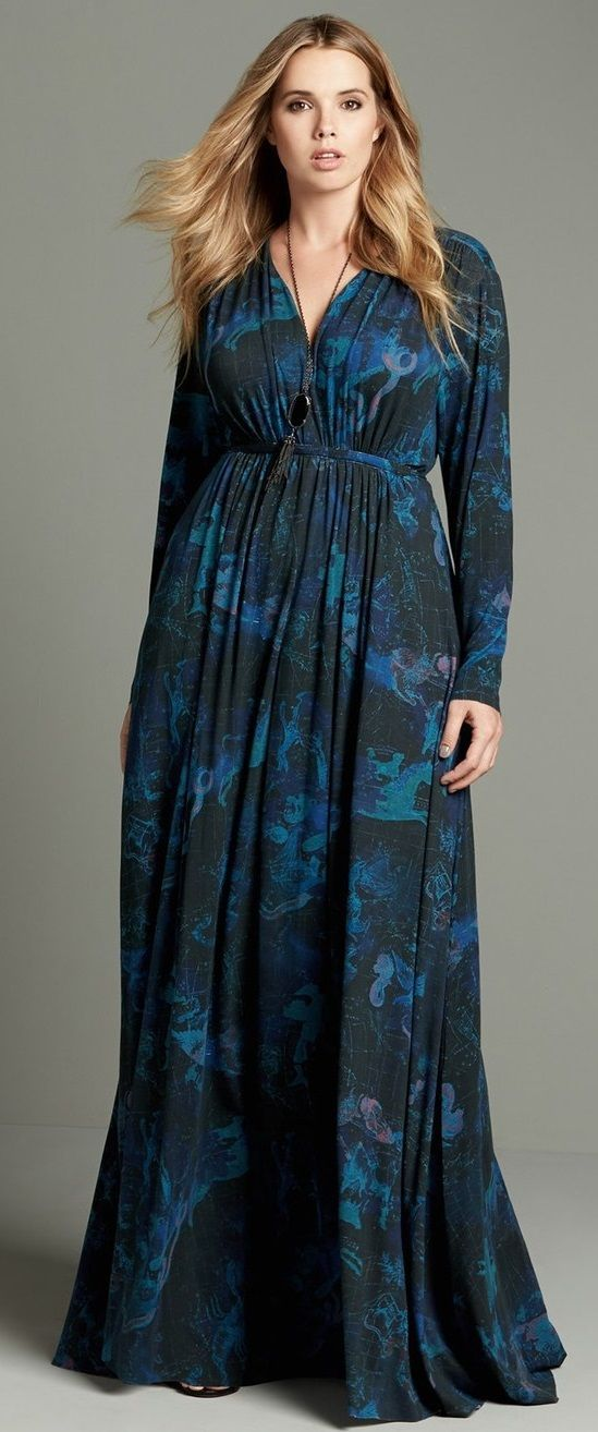 3110a9009d Plus Size A-Line Maxi Dress | Plus Size Fashion | Plus size maxi ...