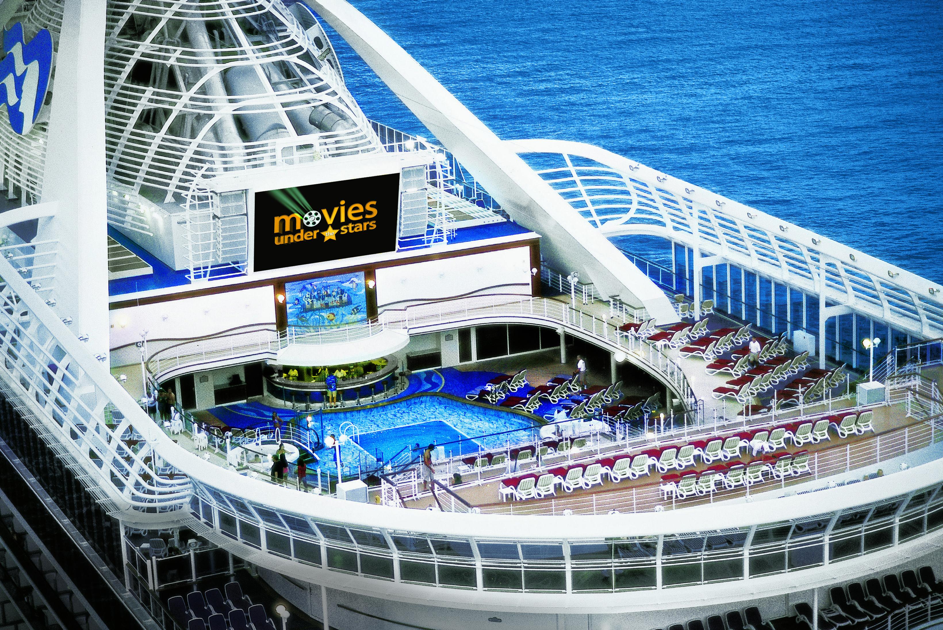 Movie Screening At Sea Onboard Princess Cruises Onboard