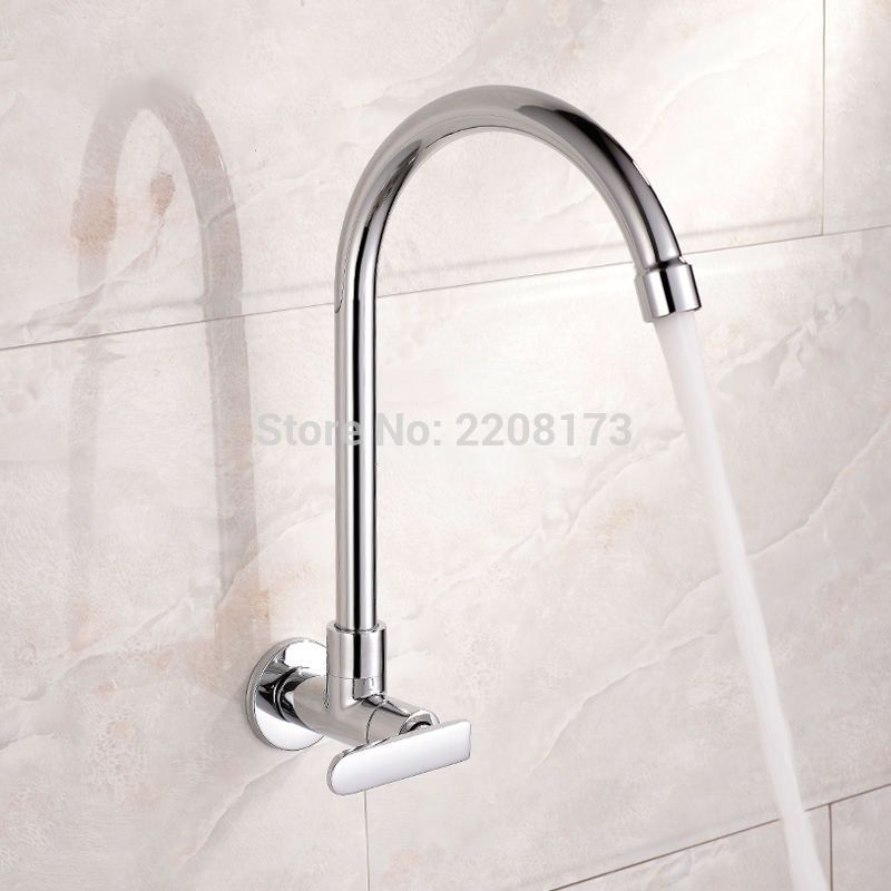 S L1600 3 Wall Mount Kitchen Faucet Stainless Steel Kitchen