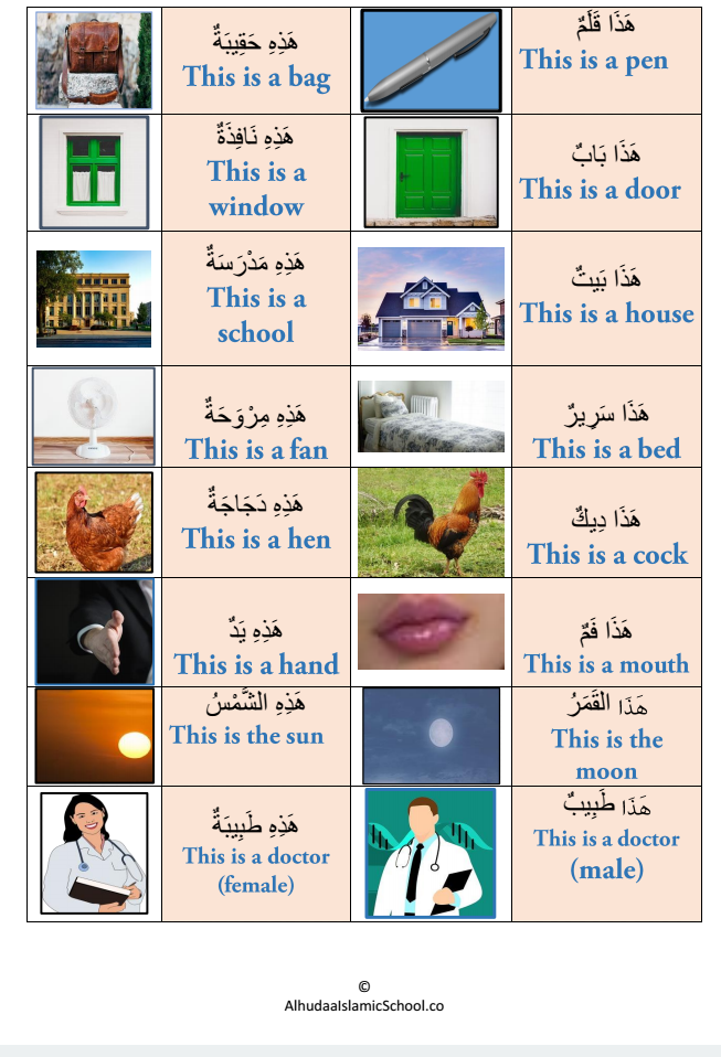Demonstrative Pronouns In The Arabic Language Both هذا And هذه Are The Arabic Word For This But Learn Arabic Online Learn Arabic Language Arabic Lessons