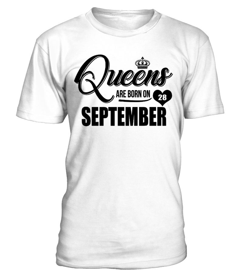 Queens Are born in September Funny T shirt Ideal Birthday Women Gift Mothers