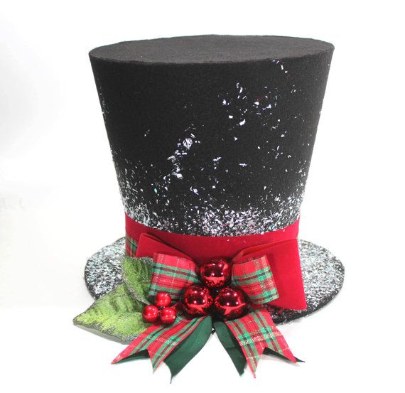 Christmas Traditional Top Hat Tree Topper Christmas Decoration Hat