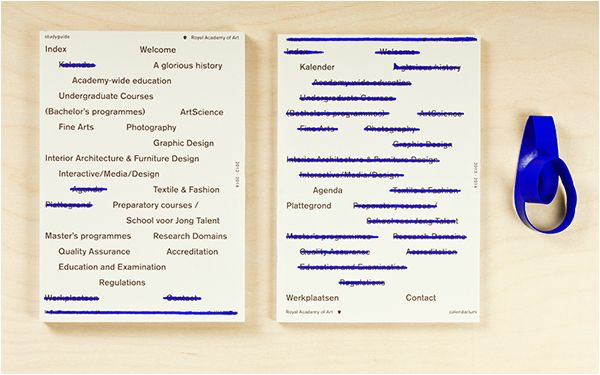 Royal Academy of Art: Study guide 2013/2014 on Behance