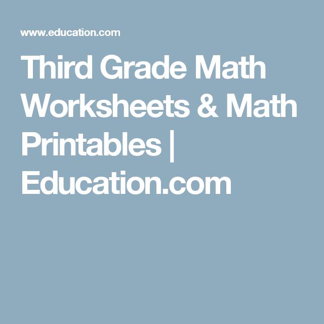 Third Grade Math Worksheets & Math Printables   Education.com ...
