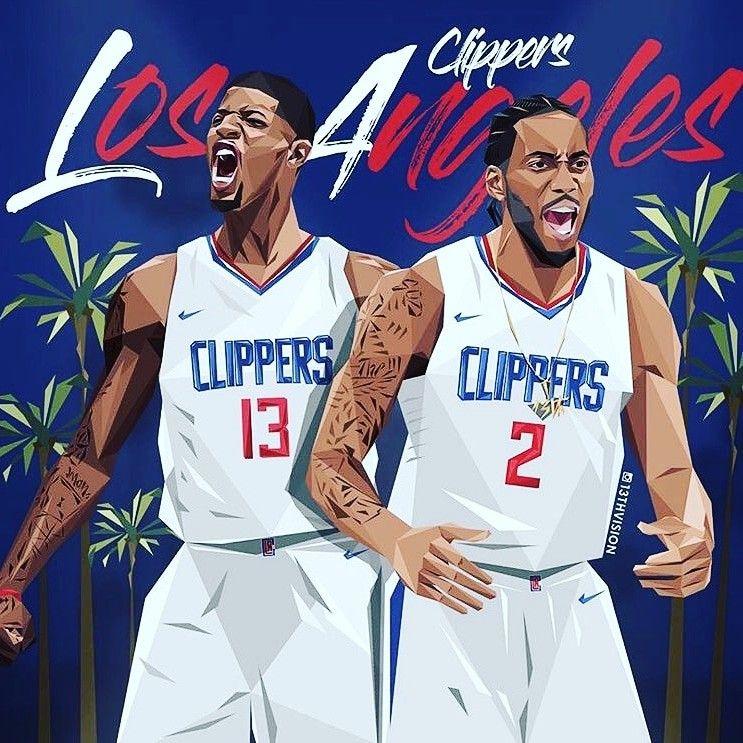 La Clippers Kawhi Pg13 Nba Basketball Art Nba Players Basketball Players Nba