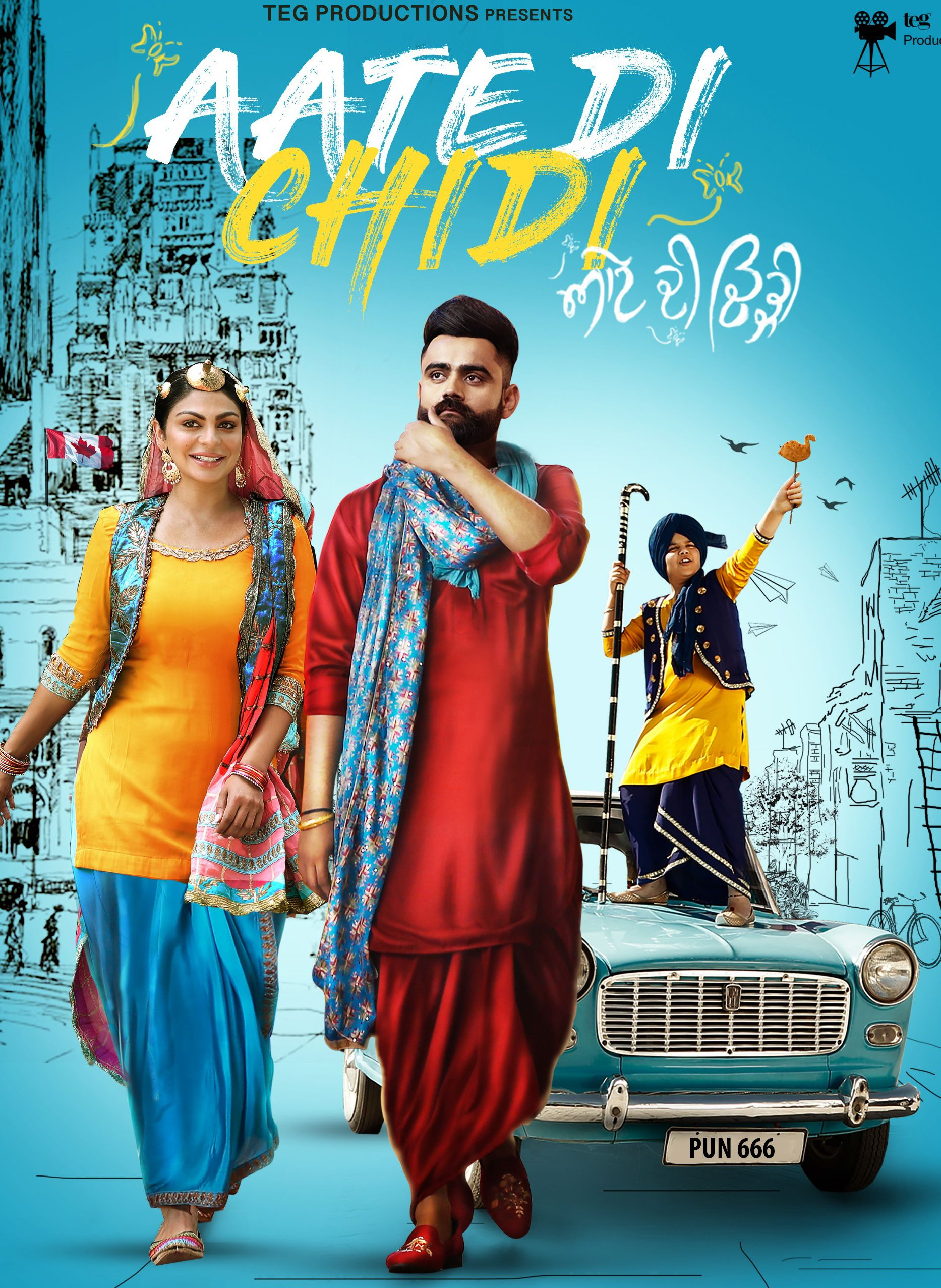 Aate Di Chiri (2018) Punjabi 720p MP4 HD 900MB New Full