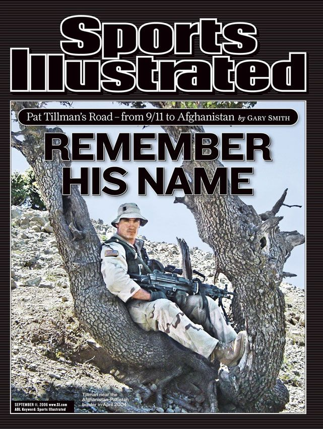 (As part of SI's great sports photos past & present)  Today is the 11th anniversary of the September 11 attacks. With that in mind, it seems fitting to highlight this cover featuring Pat Tillman, who left a successful NFL career to go overseas and serve in the military. As the headline suggests, remember his name. (Courtesy of the Tillman family)  GALLERY: Remembering Pat Tillman