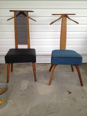 2 Vintage Valet Chairs Valet Chair Chair Dressing Chair