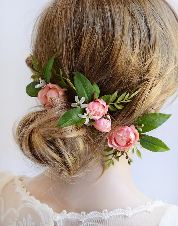 93fd88d33 Handmade silk flower hair pins for wedding. Naturalistic pink rose hair pins  are ideal for a garden wedding! Made by The Honeycomb