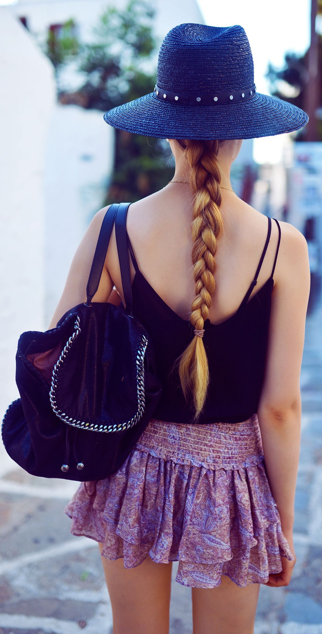 Stella Mc Cartney Black Must-have Chain Embellished Backpack by Kayture