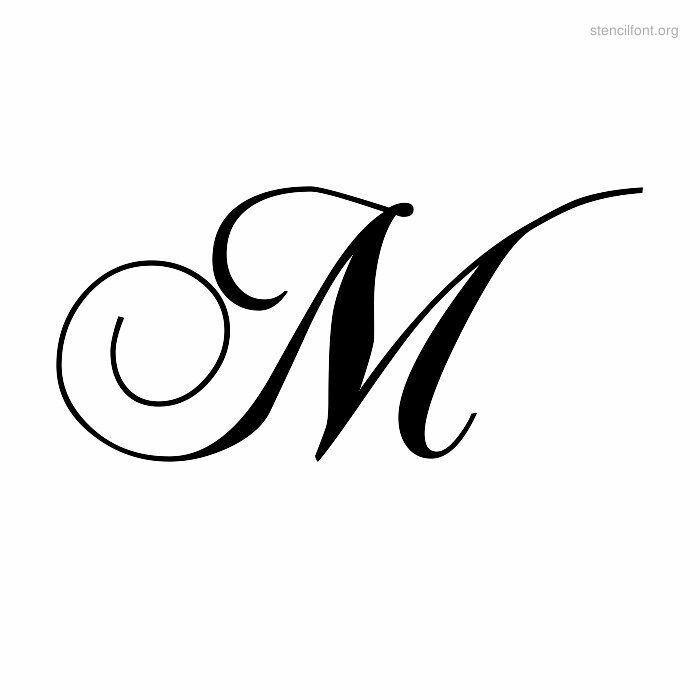 By Mima Kitic   APLIKACIJA-APPLICATION   Letter m tattoos, Cursive ...