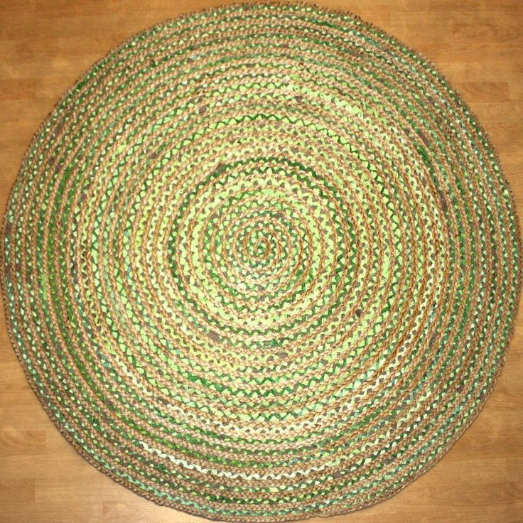 Green Round Jute Rug