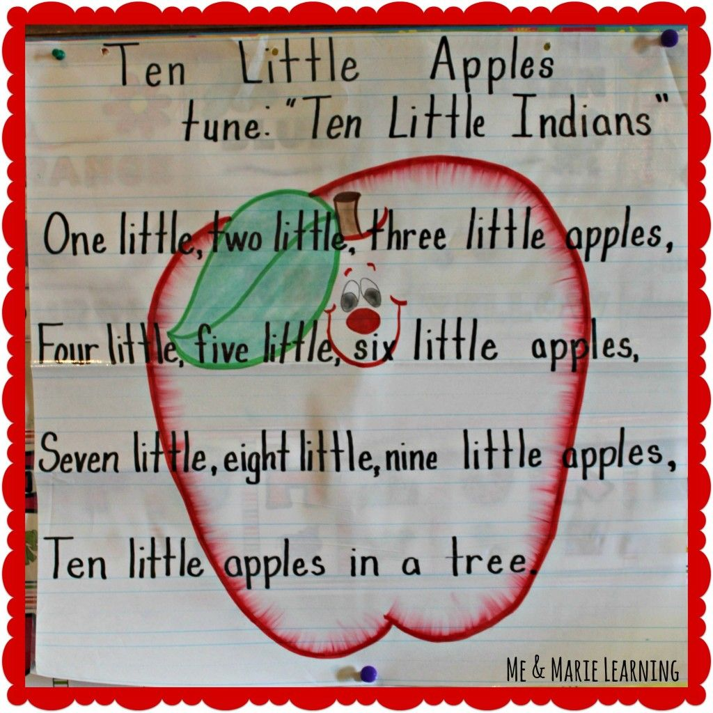 Ten Little Apples Song Preschool apple theme, Preschool