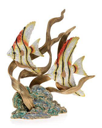 Angel Fish & Seagrass Figurine