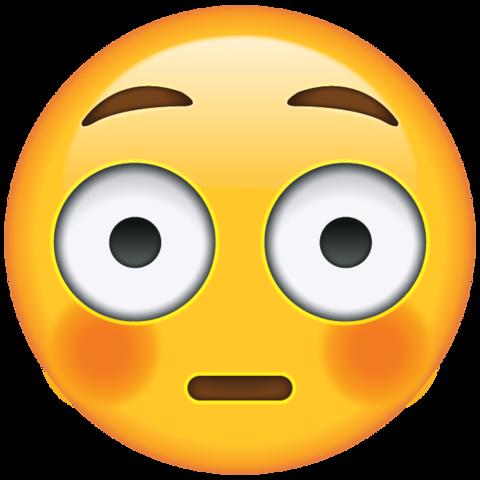 Flushed Face Emoji Emoji Tekening Emoji Emojis