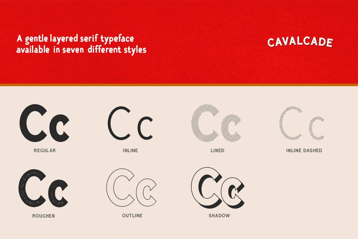 Cavalcade Desktop Font & WebFont762 YouWorkForThem in