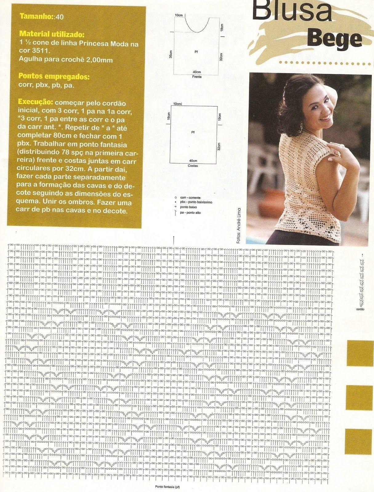 blusa+bege+rec.jpg (1215×1600) | Blusas | Pinterest | Jornada ...