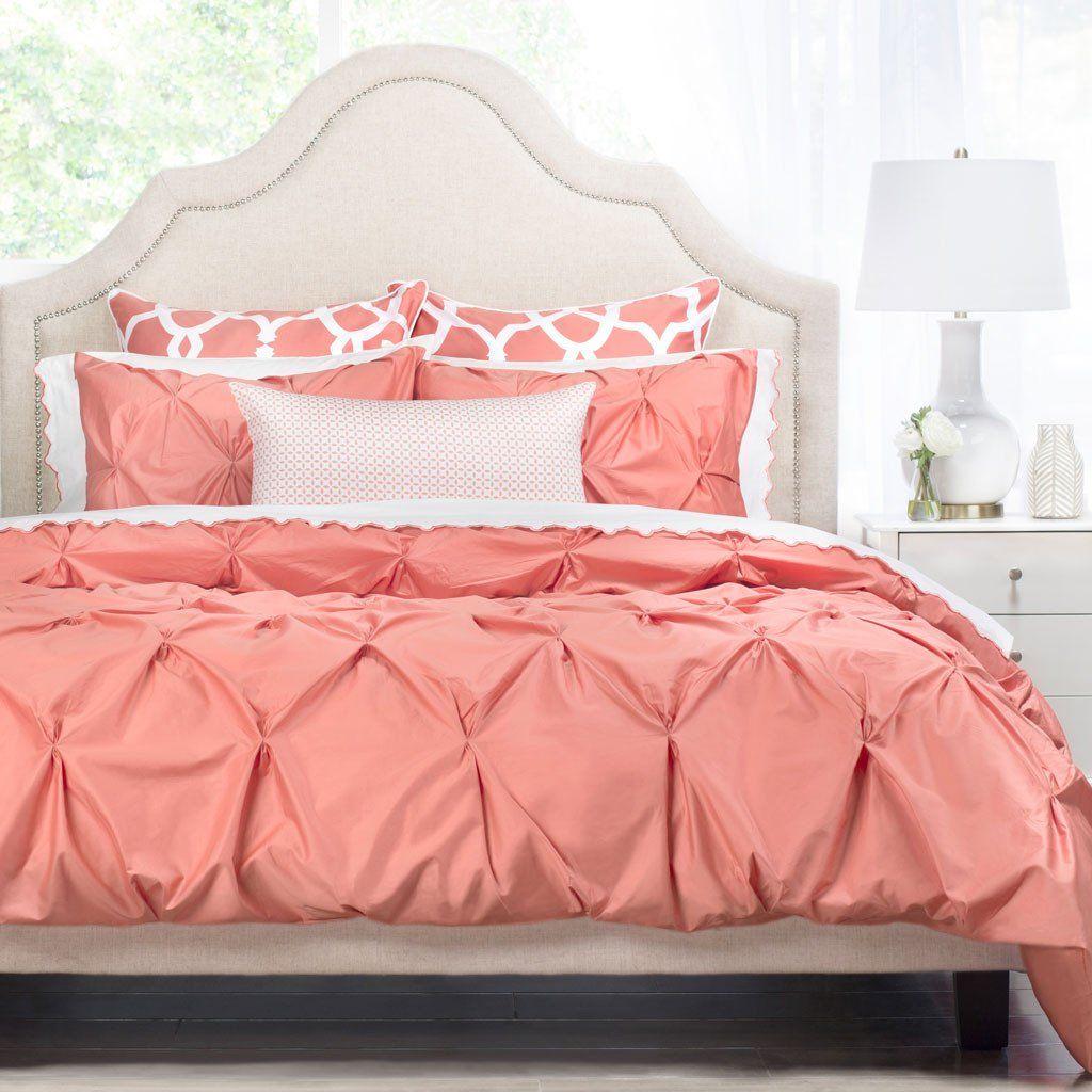 the valencia coral pintuck bedding coral bedroom coral duvet coral bedding. Black Bedroom Furniture Sets. Home Design Ideas