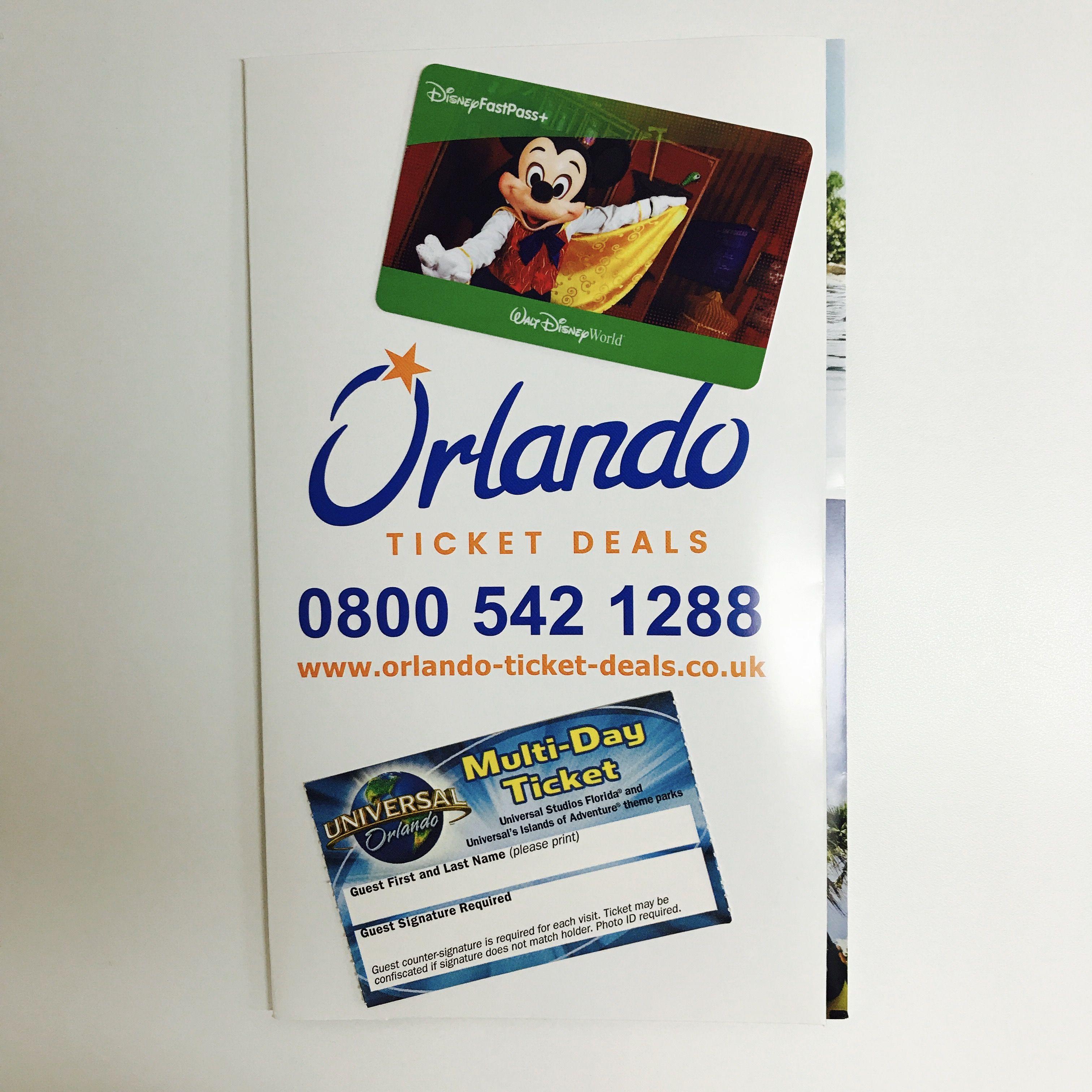 Orlando theme park tickets