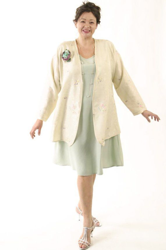 6b106c200a5 Shopping for an Easter Wedding  Mother of the Bride Dressy Jacket Ivory  Pastels Embroidered