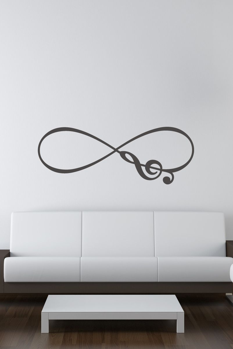 musical note infinity symbol vinyl wall decal infinity symbol decals that dazzle musical note infinity symbol vinyl wall decal 15 00