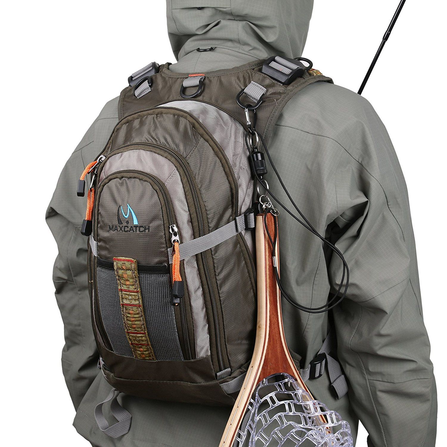 Amazon Com Maxcatch Fly Fishing Backpack Adjustable Size Mesh Fishing Vest Pack Sports Outdoors Fishing Backpack Fishing Vest Fishing Gear Gifts